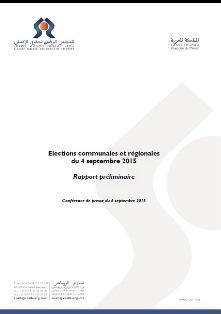 Rapport préliminaire relatif à l'observation des élections communales et régionales du 4 septembre 2015