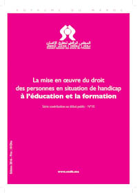 La mise en oeuvre du droit des personnes en situation de handicap à l'éducation et la formation